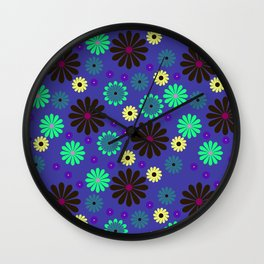 Flower colorful Wall Clock