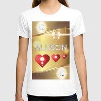 allison argent T-shirts featuring Allison 01 by Daftblue