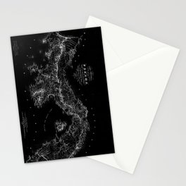 Panama Antique Map Stationery Cards