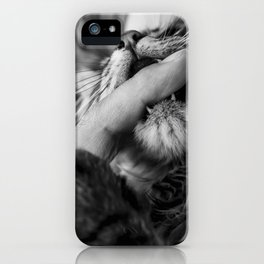 your finger is mine iPhone Case