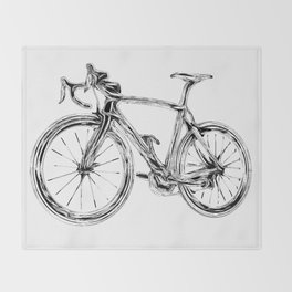 Wooden Bicycle Throw Blanket