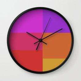 Fluro color squares Wall Clock