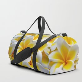 Frangipani halo of flowers Duffle Bag