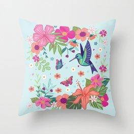 Little Hummingbird Throw Pillow