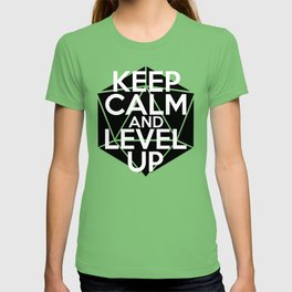 D20 Keep Calm and Level Up T-shirt