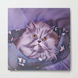 The Persian Cat Metal Print