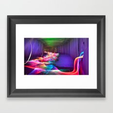 Liquid Color Flow Framed Art Print