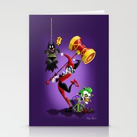 harley quinn Stationery Cards featuring Harley Quinn by Eileen Marie Art