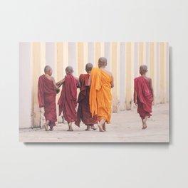 Think Like A Monk | Myanmar  Metal Print