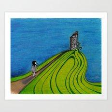 La colline Art Print