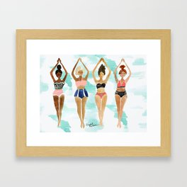 Beach Babe Bikinis Framed Art Print