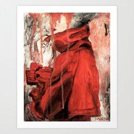 RED COAT Art Print