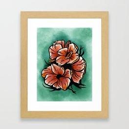 Poppy Fields Forever Framed Art Print