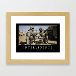 Intelligence: Inspirational Quote and Motivational Poster Framed Art Print