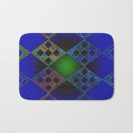 Bluish Elements Bath Mat
