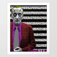 Pantone 9/10 = William R. Burroughs Art Print