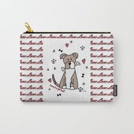 Love is a pit bull No.2 Carry-All Pouch