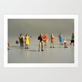 Little People. Art Print