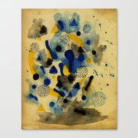 chemistry Canvas Prints featuring Floating Chemistry by Marcelo Romero