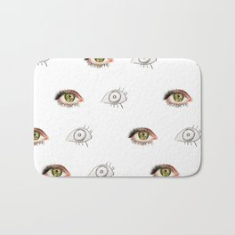 The Other Eye // drawing the reflection pet peeve Bath Mat
