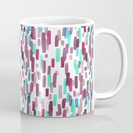 Burgundy and Teal Abstract Watercolor Coffee Mug