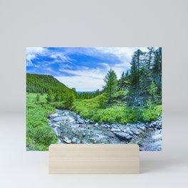The Altai landscape with mountain river and green rocks, Siberia, Altai Republic, Russia Mini Art Print