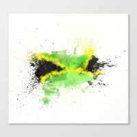 jamaica Canvas Prints featuring Jamaica by Haych