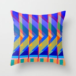 Action Square Throw Pillow