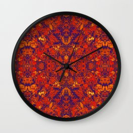 Moroccan Red Wall Clock
