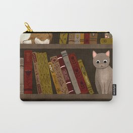 cat bookshelf Carry-All Pouch