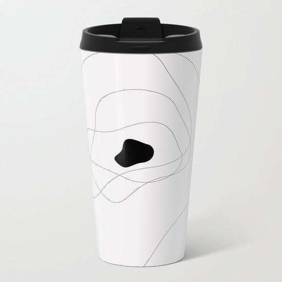 Abstract infinite in grey Metal Travel Mug