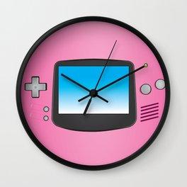 Pink Nintendo Gameboy advance Wall Clock