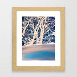 Brick trees and digital drawing Framed Art Print