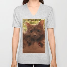 Christmas Cat Unisex V-Neck