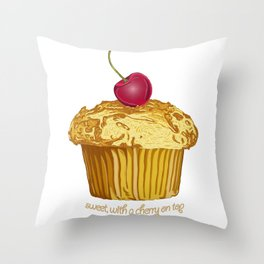 sweet, with a cherry on top Throw Pillow