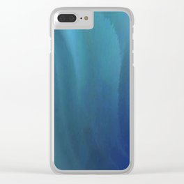 Blue waved Clear iPhone Case