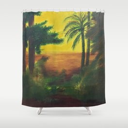 Day in the wetlands Shower Curtain
