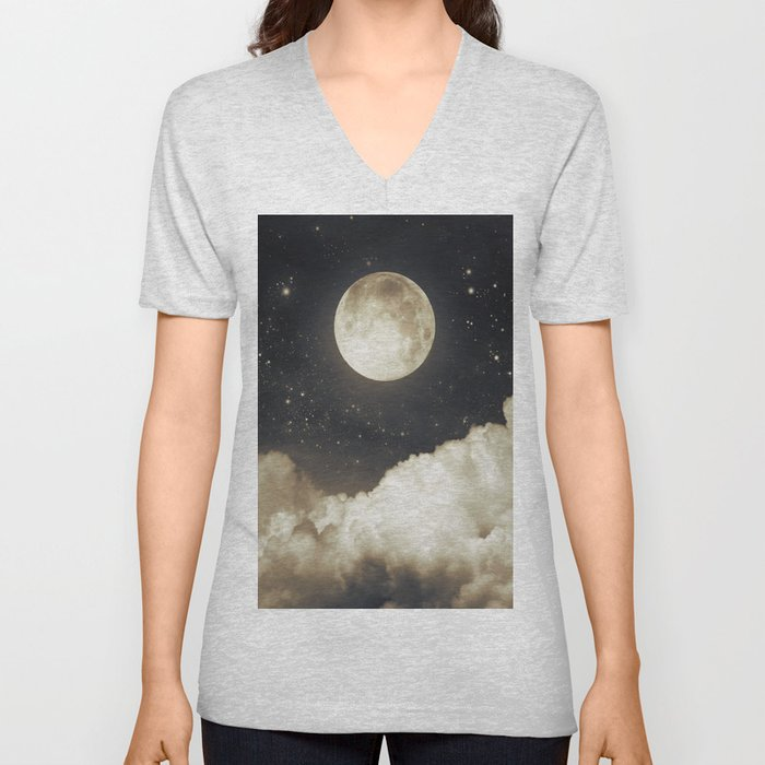 Touch of the moon I Unisex V-Neck