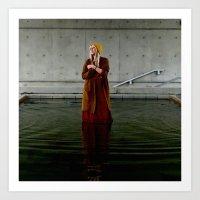 Like A Dress Water Flows Art Print