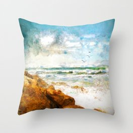Ocean Part Throw Pillow