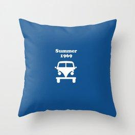 Summer 1969 - blue Throw Pillow