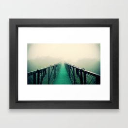 suspension bridge Framed Art Print