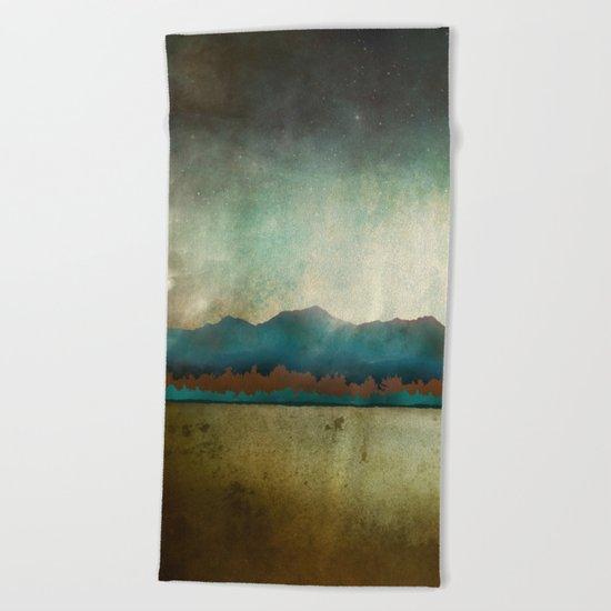Turquoise Mountain Beach Towel