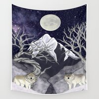 guardians Wall Tapestries featuring Guardians by Yoly B. / Faythsrequiem