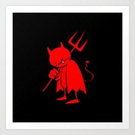 minima - sad devil Art Print