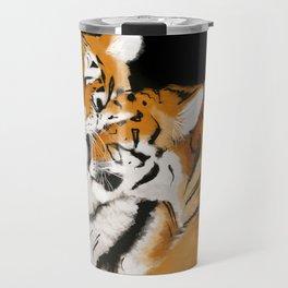 Tiger cub and mom (cheek-bump) Travel Mug