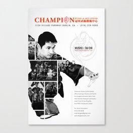 champion wushu Canvas Print