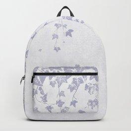 Soft Purple Trailing Ivy Leaf Print Backpack