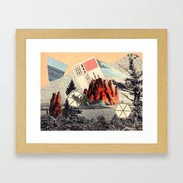 Mt. Red Framed Art Print