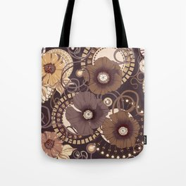 Chocolate poppy pattern. Tote Bag